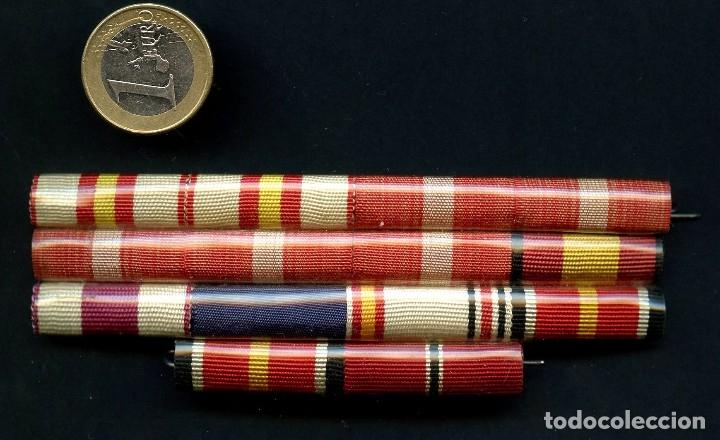 GUERRA CIVIL, DIVISIÓN AZUL, PASADOR DE MEDALLAS DE DIARIO, 14 CONDECORACIONES (Militar - Medallas Españolas Originales )