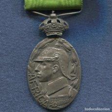 Militaria: MEDALLA DE MELILLA O AFRICA. VERSIÓN PLATA. PASADOR LARACHE. 1915. CORONA ARTICULADA. . Lote 176579934