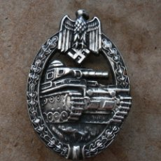 Militaria: INSIGNIA PANZERKAMP. PLATA .TERCER REICH. NAZI. Lote 176684349
