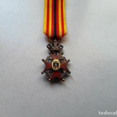 Militaria: BÉLGICA : MEDALLA (MINIATURA), DE LA ORDEN DEL MÉRITO HISPANO - BELGA. ENVÍO GRATUITO CERTIFICADO.. Lote 176859093