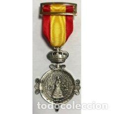 Militaria: ESTUPENDA MEDALLA DE LA VIRGEN DEL PILAR. Lote 176887699
