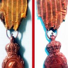 Militaria: CONDECORACION DE SANTA HELENA, A LOS COMBATIENTES DE 1792 A 1815 EN COBRE CON CINTA ORIGINAL. Lote 176947144