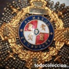Militaria: CRUZ DE GUERRA. MÉRITO EN CAMPAÑA. PLACA PARA JEFES, VERSIÓN ORO. PERÍODO GUERRA CIVIL.. Lote 177208840