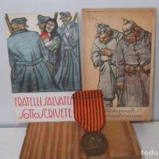 Militaria: @ 1 ª GUERRA MUNDIAL @MEDALLA + POSTALES @ 1914 - 1918 @. Lote 177261547
