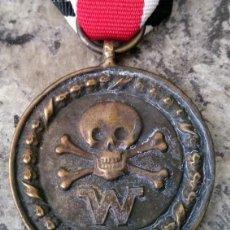 Militaria: INTERESANTE MEDALLA ALEMANIA NAZI III REICH DIVISIONES DE COMBATE CALAVERA 2ªG.M DE LAS WAFFEN SS. Lote 177282580