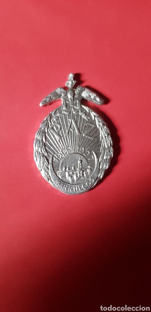 MEDALLA PAZ DE MARRUECOS EN ALUMINIO (Militar - Medallas Españolas Originales )