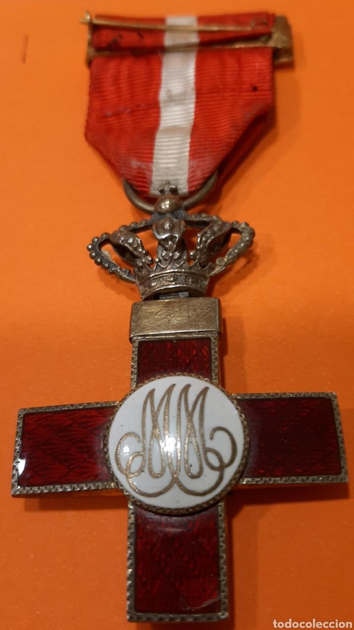 Militaria: CRUZ DE LA ORDEN DEL MERITO MILITAR CON DISTINTIVO ROJO. ÉPOCA ALFONSO XIII. - Foto 2 - 177643634