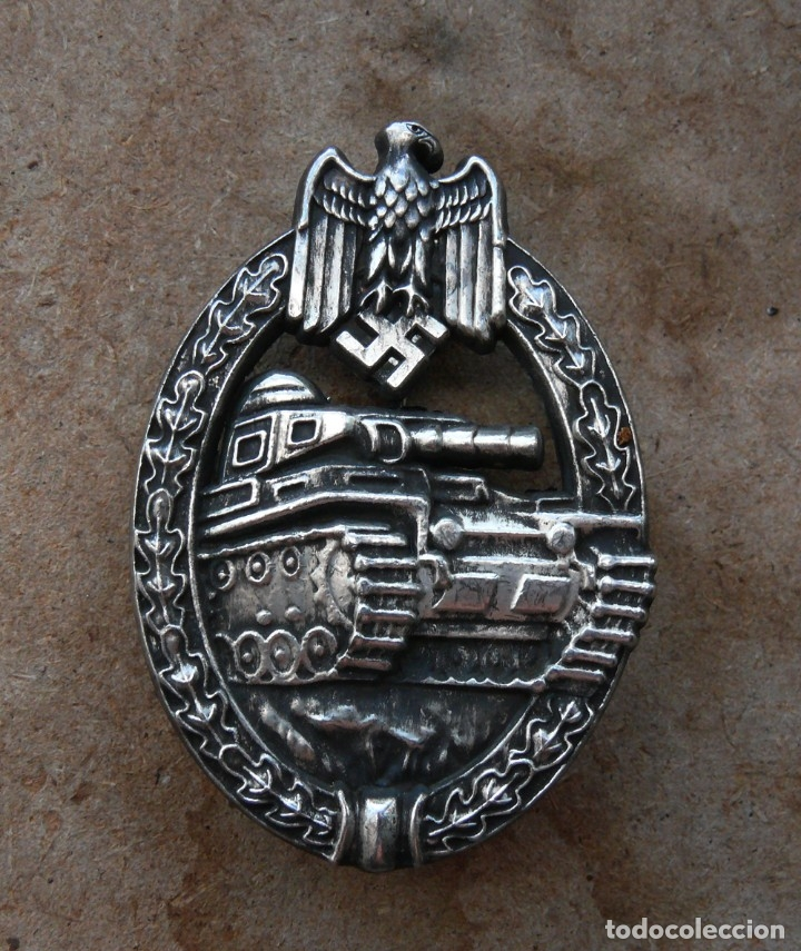 INSIGNIA PANZERKAMP. PLATA .TERCER REICH. NAZI (Militar - Reproducciones y Réplicas de Medallas )
