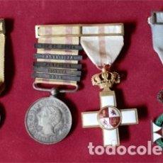 Militaria: MEDALLAS ORIGINALES GUERRAS CARLISTAS. Lote 178135120