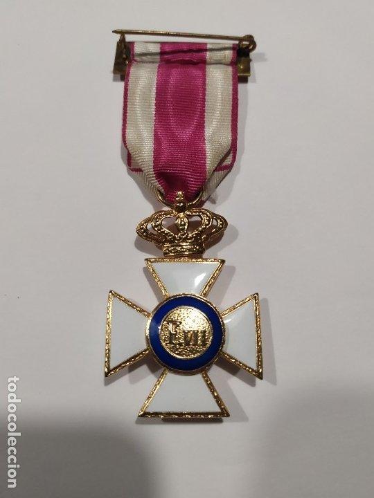 Militaria: Medalla Cruz militar a la constancia militar de Fernando VII - Foto 2 - 178143442