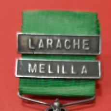 Militaria: MEDALLA DE MARRUECOS, PLATA, PASADORES DE LARACHE Y MELILLA.. Lote 178195201