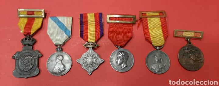 Militaria: LOTE DE 6 MEDALLAS CONMEMORATIVAS ORIGINALES. - Foto 3 - 178223230