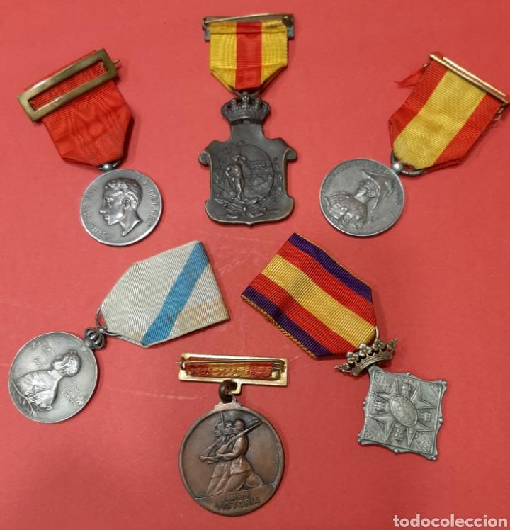 Militaria: LOTE DE 6 MEDALLAS CONMEMORATIVAS ORIGINALES. - Foto 4 - 178223230