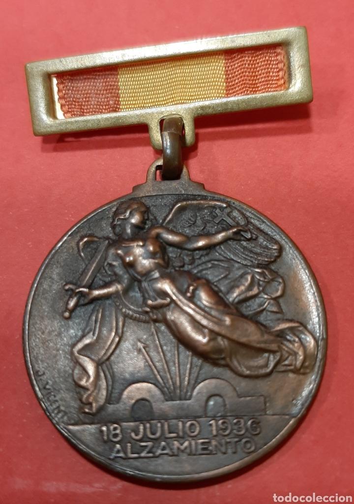Militaria: LOTE DE 6 MEDALLAS CONMEMORATIVAS ORIGINALES. - Foto 10 - 178223230