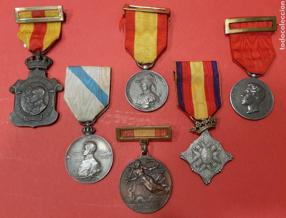 LOTE DE 6 MEDALLAS CONMEMORATIVAS ORIGINALES. (Militar - Medallas Españolas Originales )