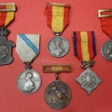 Militaria: LOTE DE 6 MEDALLAS CONMEMORATIVAS ORIGINALES.. Lote 178223230