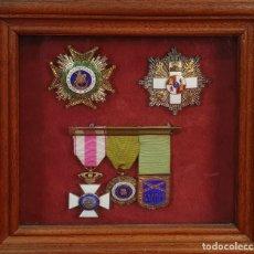 Militaria: COLECCIÓN DE CONDECORACIONES MILITARES ENMARCADAS. GUERRA CIVIL. SIGLO XX. . Lote 178398242