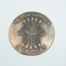 Militaria: MEDALLA DE LA FALANGE ESPAÑOLA DE LAS JONS, MIDE 4,8 CMS DE DIAMETRO. . Lote 178662323