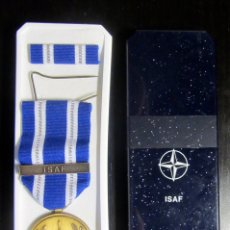 Militaria: MEDALLA OTAN ISAF IN SERVICS OF PEACE AND FREEDOM. Lote 179090508