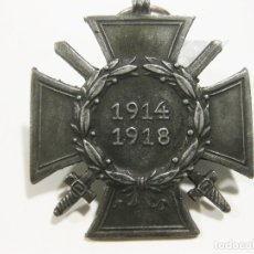 Militaria: MEDALLA ALEMANA DE LA CRUZ DE HONOR HINDENBURG CON ESPADAS 1914 1918. MARCADA B. H. L.. Lote 179146975