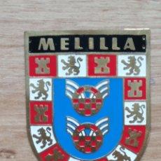 Militaria: PLACA PROVINCIAL OJE MELILLA - FRENTE JUVENTUDES - O.J.E - EPOCA FRANCO.. Lote 179162123