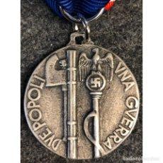 Militaria: MEDALLA DOS PUEBLOS UNA GUERRA ALEMANIA NAZI TERCER REICH ITALIA. Lote 179193080