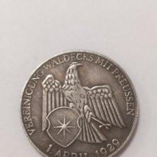 Militaria: COPIA - MONEDA MEDALLA ALEMANIA GUERRA NAZI MILITAR REICH 1929 - MIDE 30 MM DIAMETRO. Lote 179241356