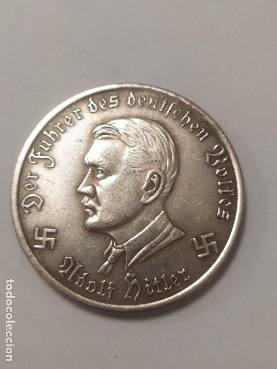 COPIA - MONEDA MEDALLA ALEMANIA GUERRA NAZI MILITAR HITLER REICH 1942 - MIDE 38 MM DIAMETRO (Militar - Reproducciones y Réplicas de Medallas )