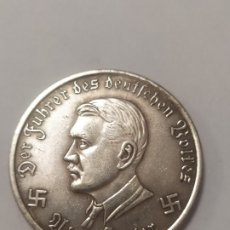 Militaria: COPIA - MONEDA MEDALLA ALEMANIA GUERRA NAZI MILITAR HITLER REICH 1942 - MIDE 38 MM DIAMETRO. Lote 179241732