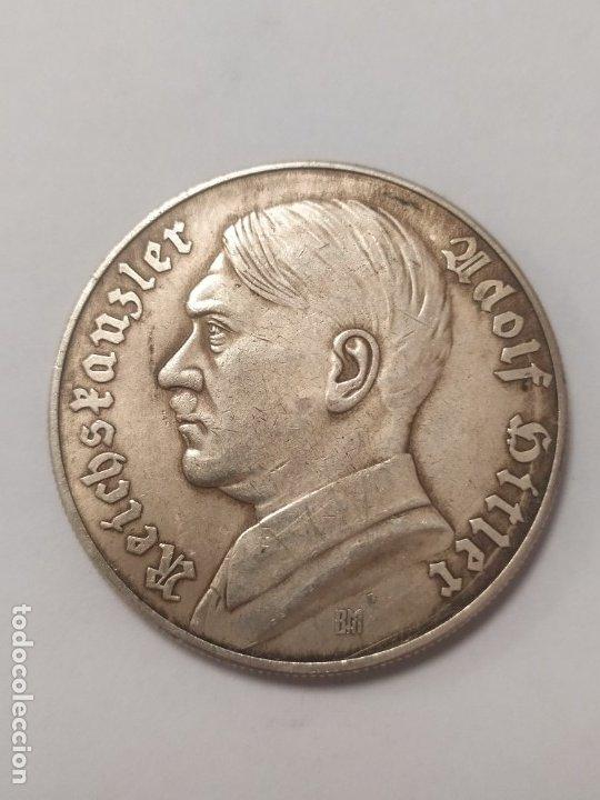 COPIA - MONEDA MEDALLA ALEMANIA GUERRA NAZI MILITAR REICH HITLER - MIDE 40 MM DIAMETRO (Militar - Reproducciones y Réplicas de Medallas )