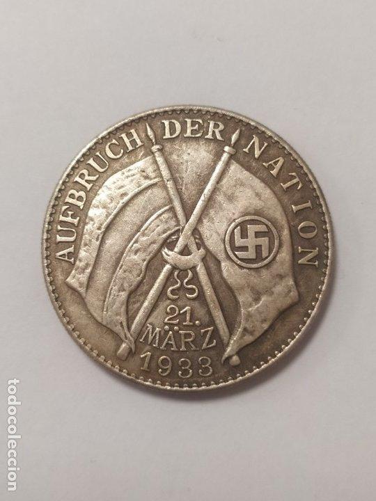 Militaria: COPIA - MONEDA MEDALLA ALEMANIA GUERRA NAZI MILITAR REICH HITLER 1933 - MIDE 34 mm DIAMETRO - Foto 2 - 179242132