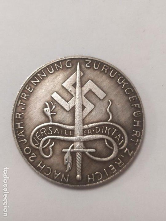 Militaria: COPIA - MONEDA MEDALLA ALEMANIA GUERRA NAZI MILITAR REICH HITLER 1940 - MIDE 36 mm DIAMETRO - Foto 2 - 179246022