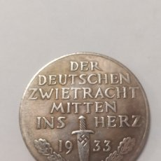Militaria: COPIA - MONEDA MEDALLA ALEMANIA GUERRA NAZI MILITAR REICH HITLER 1933 - MIDE 36 MM DIAMETRO. Lote 179246302