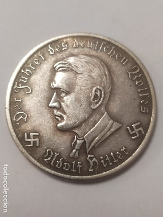 Militaria: COPIA - MONEDA MEDALLA ALEMANIA GUERRA NAZI MILITAR REICH HITLER 1941 - MIDE 38 mm DIAMETRO - Foto 2 - 179250426