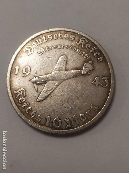 COPIA - MONEDA MEDALLA ALEMANIA GUERRA NAZI MILITAR REICH HITLER 1943 - MIDE 38 MM DIAMETRO (Militar - Reproducciones y Réplicas de Medallas )