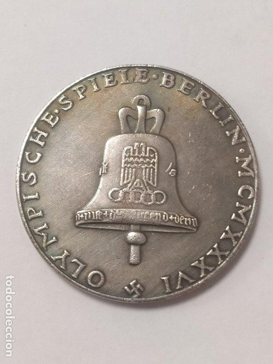 COPIA - MONEDA MEDALLA ALEMANIA OLIMPIADAS NAZI MILITAR REICH HITLER - MIDE 37 MM DIAMETRO (Militar - Reproducciones y Réplicas de Medallas )