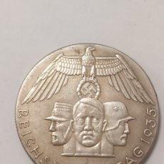 Militaria: COPIA - MONEDA MEDALLA ALEMANIA GUERRA NAZI MILITAR REICH HITLER 1935 - MIDE 35 MM DIAMETRO. Lote 179251126
