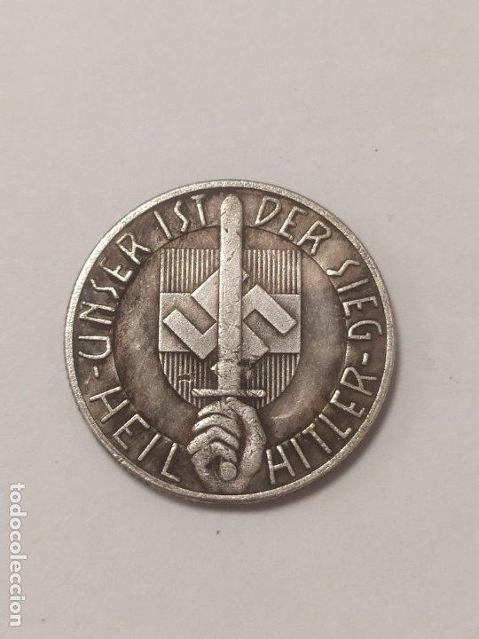 Militaria: COPIA - MONEDA MEDALLA ALEMANIA GUERRA NAZI MILITAR REICH HITLER 1934 - MIDE 23.5 mm DIAMETRO - Foto 2 - 179251345