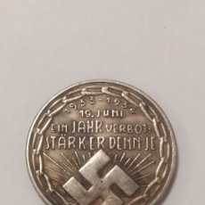 Militaria: COPIA - MONEDA MEDALLA ALEMANIA GUERRA NAZI MILITAR REICH HITLER 1934 - MIDE 23.5 MM DIAMETRO. Lote 179251345