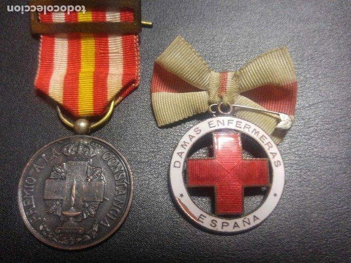 MEDALLA DAMAS ENFERMERAS Y VOLUNTARIA CRUZ ROJA. GUERRA CIVIL. DIVISIÓN AZUL (Militar - Medallas Españolas Originales )