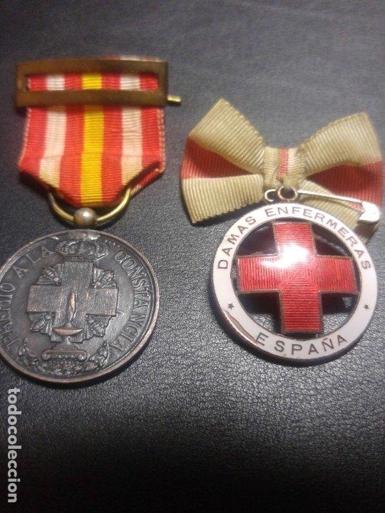Militaria: MEDALLA DAMAS ENFERMERAS Y VOLUNTARIA CRUZ ROJA. Guerra civil. División Azul - Foto 2 - 179326802