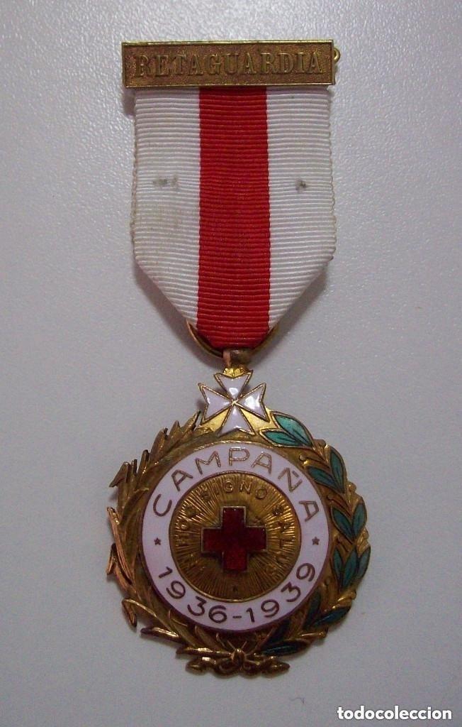 MEDALLA CAMPAÑA CRUZ ROJA GUERRA CIVIL (Militar - Medallas Españolas Originales )