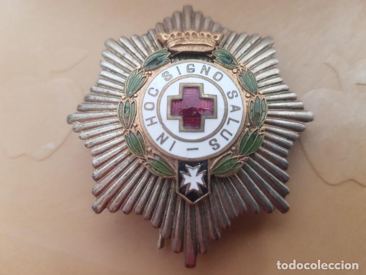 PLACA CRUZ ROJA ÉPOCA DE FRANCO (Militar - Medallas Españolas Originales )