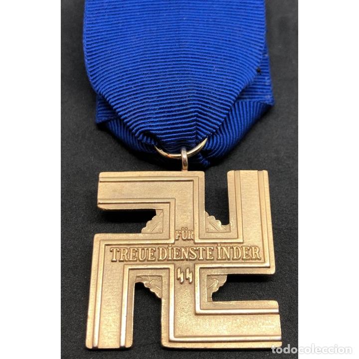 Militaria: MEDALLA 25 AÑOS DE SERVICIO EN LA SS Alemania Nazi Tercer Reich - Foto 2 - 221436755