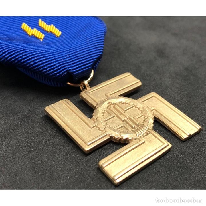 Militaria: MEDALLA 25 AÑOS DE SERVICIO EN LA SS Alemania Nazi Tercer Reich - Foto 3 - 221436755