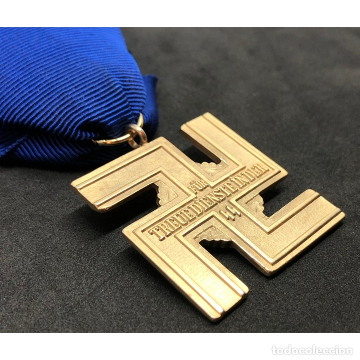 Militaria: MEDALLA 25 AÑOS DE SERVICIO EN LA SS Alemania Nazi Tercer Reich - Foto 4 - 221436755