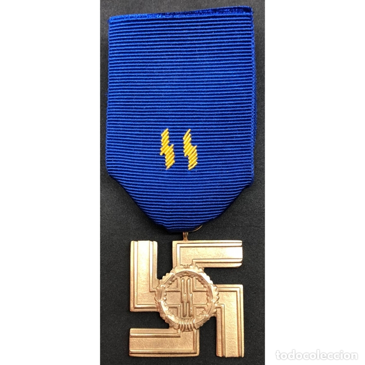 Militaria: MEDALLA 25 AÑOS DE SERVICIO EN LA SS Alemania Nazi Tercer Reich - Foto 5 - 221436755
