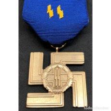 Militaria: MEDALLA 25 AÑOS DE SERVICIO EN LA SS ALEMANIA NAZI TERCER REICH. Lote 180168092