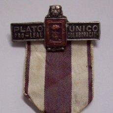 Militaria: MEDALLA PLATO UNICO. Lote 180180585
