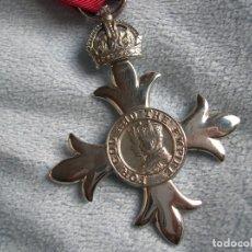 Militaria: BELLA ORDEN DE MIEMBRO DEL IMPERIO BRITANICO EN SU ESTUCHE. AÑOS 60.. Lote 180192095